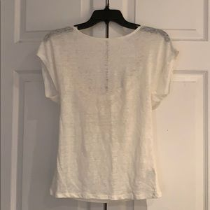 New w tag f21 ivory shirt with Lower back